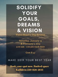 Eventbrite - Kathleen presents Solidify Your Vision - Saturday, January 2019 - Find event and ticket information. Focus On Yourself, To Focus, Resolutions, Schedule, Stress, Mindfulness, Joy, Goals, Couple