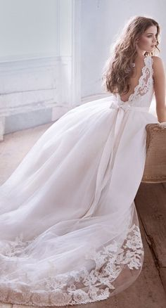 Lace detail wedding dress