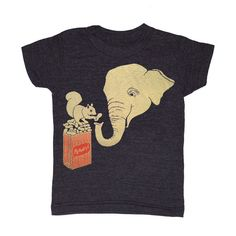 KIDS TODDLER / Elephant & Squirrel  Tshirt Boy by GnomEnterprises, $20.00