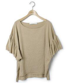 GREED(グリード)の古着「ドルマンスリーブニット(ニット/セーター)」|ベージュ  http://zozo.jp/shop/zozoused/goods-sale/5230393/