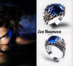 Happy Sun Blue ring серебро, синий кварц, цитрины http://evanaumova.ru/happy-sun-blue-small