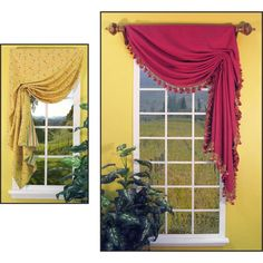 This curtain is created with Italian Stringing.