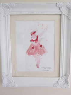 Little Dancer after Degas watercolour painting by AngelAtMyEasel