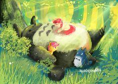 Totoro and MLP by AquaGalaxy.deviantart.com on @deviantART
