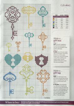 Gallery.ru / Фото #1 - 49 - uni4ka coloured cross stitch keys chart