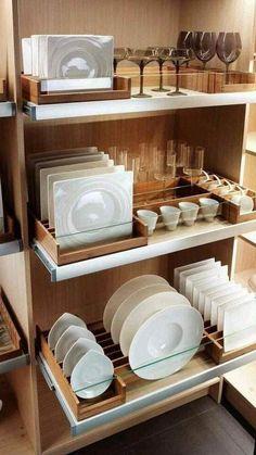 Kitchen Pantry Design, Small Kitchen Storage, Diy Kitchen Decor, Modern Kitchen Design, Interior Design Kitchen, Kitchen Organization, Kitchen Furniture, Organization Ideas, Diy Furniture