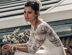 Why Laure De Sagazan's 2016 Collection Is Perfect For Stylish Brides Why Laure De Sagazan's 2016 Collection Is Perfect For Stylish Brides – Style & The Bride Lace Wedding Dress, Boho Wedding, Bridal Dresses, Wedding Gowns, Laura Lee, The Bride, Wedding Inspiration, Style Inspiration, Bridal Beauty