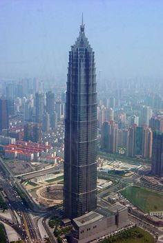 The great Jin Mao Tower located in the Pudong District of Shanghai. CHINA.