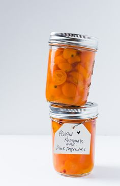 Pickled Kumquats with Pink Peppercorns {recipe}