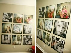 Another interesting idea is to alternate black and white photos with color photos. Print them with the same dimensions and shape and create a symmetrical display on a wall of the living room. A wall adjacent to the windows would be great. Picture Wall, Photo Wall, Photowall Ideas, Fotografia Tutorial, Wall Collage, Wall Art, Foto Fun, Diy Rangement, Home And Deco