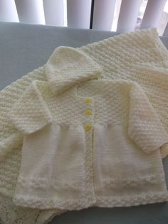 Baby Sweater and Blanket Set