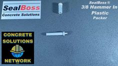 """The 3/8 inch diameter SealBoss 3/8"""" Plastic Hammer-In Packer, Drive-In Port is a simple EZ style design injection bang-in nylon plastic port. It is a zerk style port equipped with a SealBoss long grease style fitting. To learn more click below. #accessories #waterproofingsolutions Grease Style, Concrete Repair Products, Packers, Plastic, Learning, Simple, Design, Accessories, Studying"""