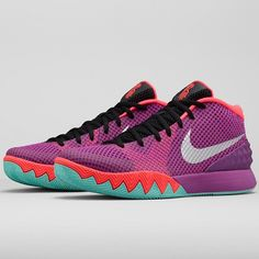 """""""Completing the Nike Basketball """"Easter"""" Collection is the Kyrie 1. What's your favorite Easter sneaker out of the four that will be releasing on April 2nd?"""""""