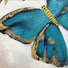 Set of 3 wall art abstract floral Butterfly blue art framed Paintings On Canvas Gold art heavy textured Wall Pictures cuadros abstractos 3 Piece Painting, 3 Piece Wall Art, Painting Frames, Butterfly Acrylic Painting, Acrylic Painting Canvas, Art Encadrée, Art Mural, Living Room Canvas, Gold Art