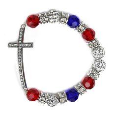Just Jewelry God & Country Bracelet