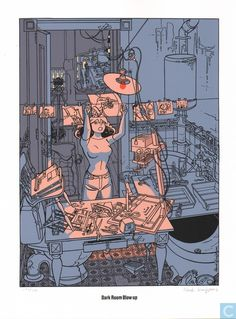 Ex-Libris BD et tirages - Tiré à part - Cadillac Club - Dark Room Blow Up