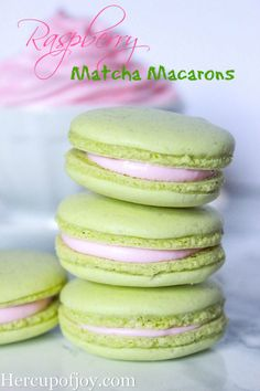 Raspberry Matcha Macarons (Italian Meringue Method)