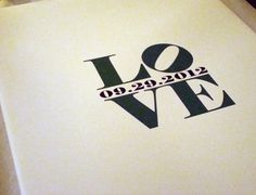 Customizable LOVE wedding Guest book canvas by ModGenesDesigns
