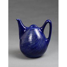 Blue fire; Blå Eld (Teapot and lid)