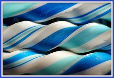 blue white striped rock candy stick