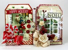 Let it Snow Creativity Kit 3 Christmas tags, cards