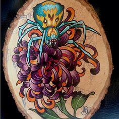 spider mum tattoo - Google Search