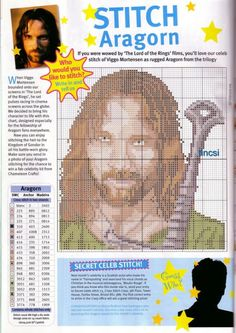 Now I love me some nerdy cross stitch, but this looks more like Jesus, holding a sword.