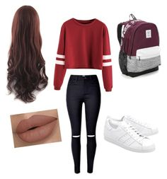 """""""Winter nights"""" by hollylouisehebert ❤ liked on Polyvore featuring adidas Originals and Victoria's Secret"""