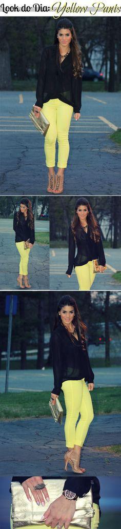 Look do Dia: Yellow Pants