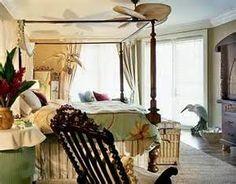 British Colonial Interior Design: British West Indies Style - Bedroom