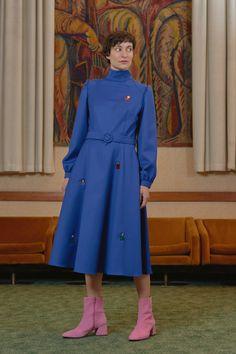 ECSERI - badge detail dress mock neck dress Mock Neck, Badge, Women Wear, Shirt Dress, Contemporary, Detail, Shirts, Collection, Dresses