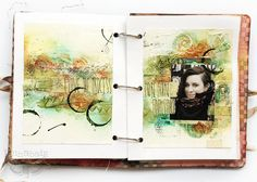 Journal 035 - Freestyle journal sample - with Sizzix | by finnabair