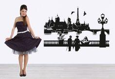 Adesivi murali - Parigi con la Senna