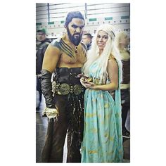 Pin for Later: 60 Costume Ideas For Couples Who Love to Geek Out Together Daenerys Targaryen and Khal Drogo — Game of Thrones