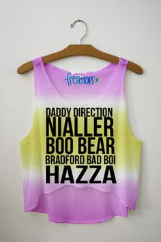 One Direction Nick Name Tie Dye Crop Top Liam, Niall , Louis, Zayn, Harry xx One Direction Outfits, One Direction Shirts, I Love One Direction, T Shirts Uk, Cute Shirts, Fresh Tops, Tie Dye Crop Top, Band Merch, Zayn Malik