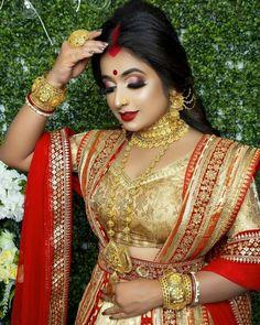 India Beauty, Asian Beauty, Beautiful Indian Brides, Bengali Bridal Makeup, Bridal Photoshoot, Bride Portrait, Sexy Wife, Wedding Photography Poses, Woman Fashion