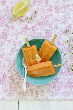Cantalope Melon Ice Pops