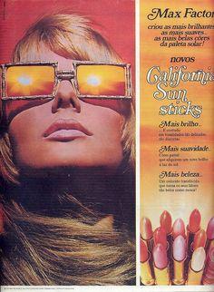 """Max Factor """"California Sun Sticks"""" Lipstick Ad"""
