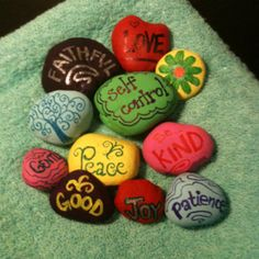 ideas fruit of the spirit peace gifts Vbs Crafts, Church Crafts, Bible Crafts, Camping Crafts, Rock Crafts, Crafts For Kids, Arts And Crafts, Garden Crafts, Prayer Rocks