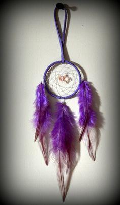 2''  Purple Suede Dream Catcher. Car Mirror. by DreamySummerNights, $5.50