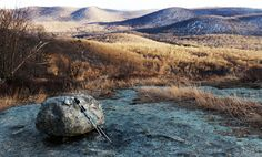 Near the top of Bear Mountain, New York, wintertime vistas stretch out over an expansive viewshed: south toward West Mountain and the Timp.