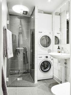 bathroom laundry | swedish apartment