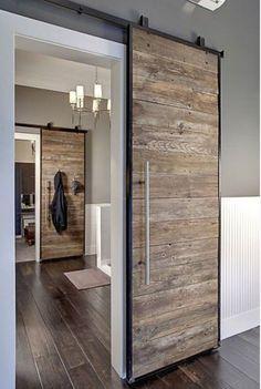 portes récup dans espace moderne