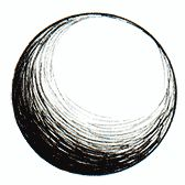 contour-hatching - follows the contour, or curve or outline, of the object. In this case, the hatching is rounded to match the shape of the circle.
