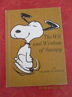 The Wit And Wisdom Of Snoopy, 1967 by VintageVeneers on Etsy