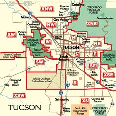Map Of Arizona Cities Homeschooling Pinterest City Tucson - Us map with big cities