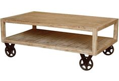 Lisette Coffee Table, Washed Brown