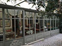 L'Officina dei Giardini – Conservatory Giardini d'Inverno Serre Gazebos, Terrace Restaurant, Outdoor Kitchen Design, Glass House, Terrazzo, Conservatory, My Dream Home, Outdoor Gardens, My House