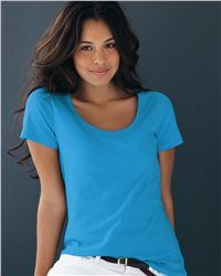 Still wandering in the middle of tons of ladies' shirts, being dazzled getting nothing? Surely you will not regret if you got a minute taking a look at the Anvil - Ladies' Sheer Scoopneck T-Shirt - 391. The pre-shrunk 100% ringspun cotton is the fabric that features a soft and smooth sense of touch. Here's the scoop on sexy in soft super-sheer ringspun cotton. This shirt features delicate cutting and exquisite sewing - contoured silhouette with side seams.