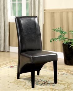 Furniture of America Marvea Leatherette Dining Chair (Set of 2),